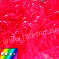 """Резиночки """"Ярко розовый металлик"""" для плетения браслетов"""