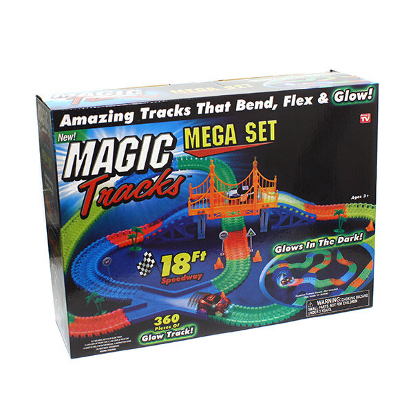 Чудо трасса Magic Tracks Mega 360 деталей (2 машинки, мост)