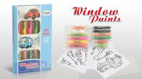 Набор для создания витражей Window Paint Машинки