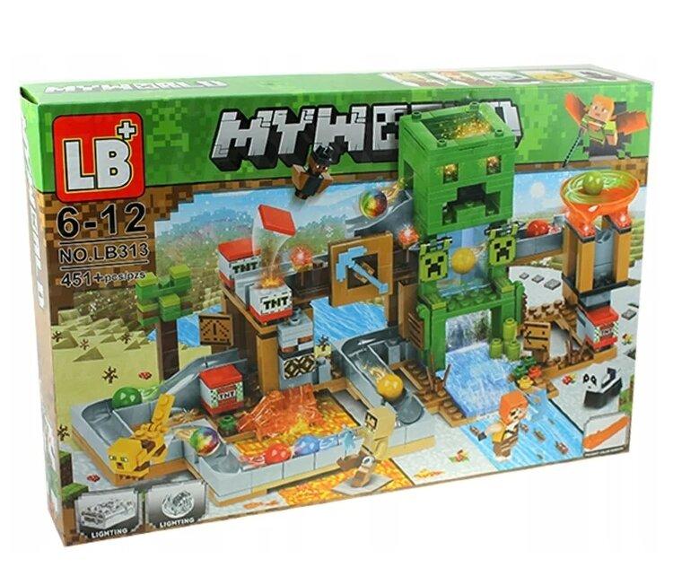 "Конструктор майнкрафт ""minecraft my world"" 451 дет. крипер  LB 313"