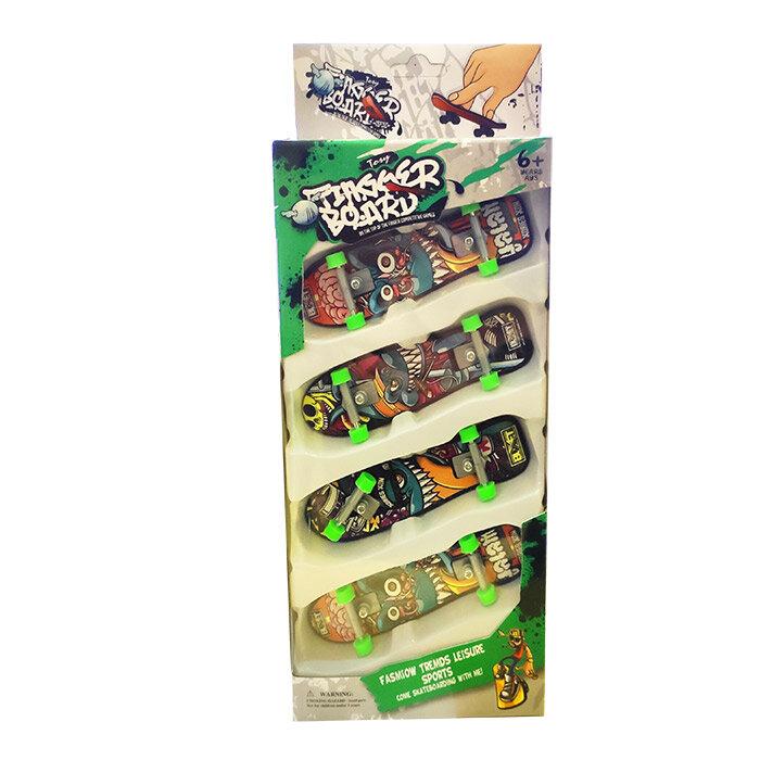Фингер  Набор из 4 шт пальчиковых скейтов