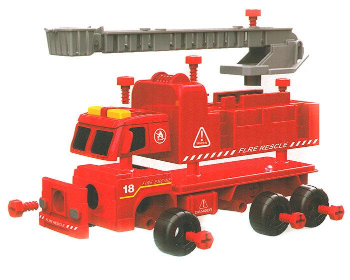 Конструктор Пожарная машина с краном