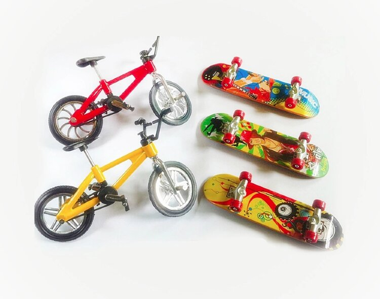 Набор Фингербайков BMX и Фингербордов разных видов (металл)
