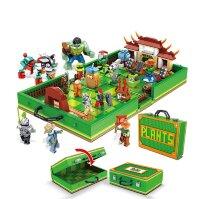 """Конструктор Plants vs Zombies """"Растения против Зомби Чемодан для Сражений"""" 1123 дет Elephant 90084"""