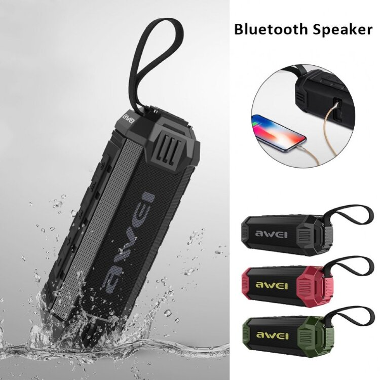 Влагозащищенная Bluetooth колонка Awei Y280