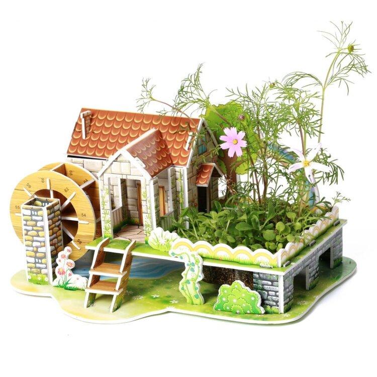 Юный садовод 3D Пазл Радужный домик