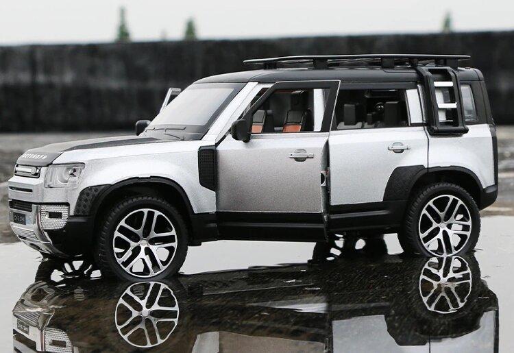 """Машинка металическа инерционая """"Land Rover Defender"""" 1; 24 серебристый"""