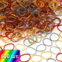 """Микс """"Серебро -Золото - Карамель"""" резиночки для плетения браслетов"""