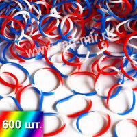 """""""Российский флаг"""" резиночки для плетения браслетов"""