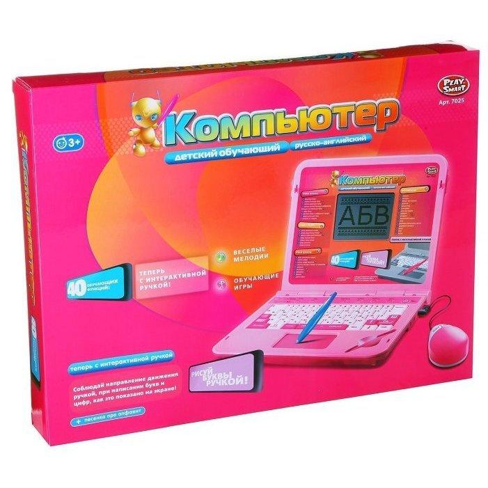Детский обучающий компьютер русско-английский Joy Toy 7025 (40 обучающих функций)
