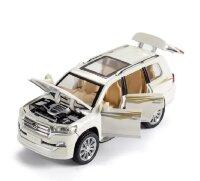 """Машинка металлическая инерционная """"Toyota Land Cruiser""""  1:24 (белый)"""
