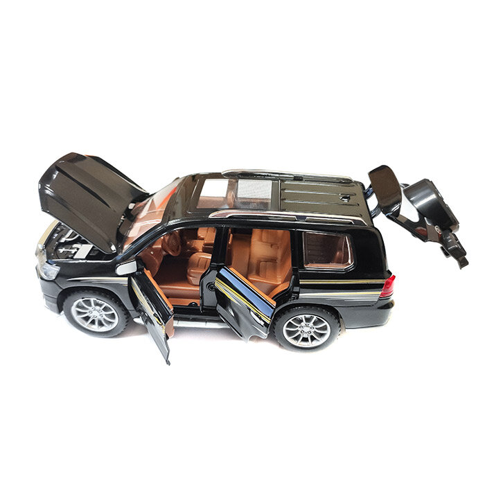 """Машинка металлическая инерционная """"Toyota Land Cruiser"""" 1:24 (черный)"""