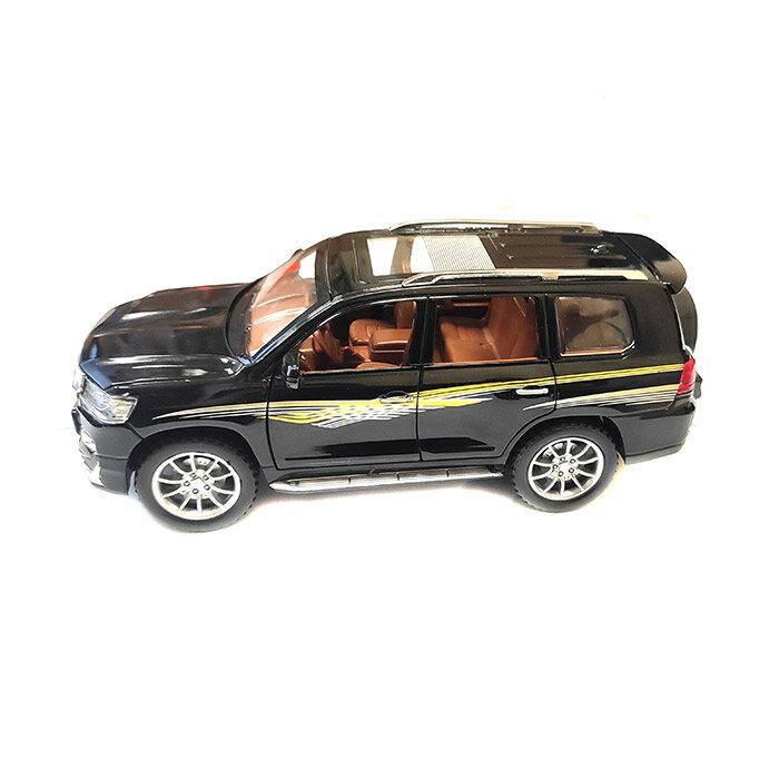 """Машинка металлическая инерционная """"Toyota Land Cruiser Prado"""" 1:24 (черный)"""