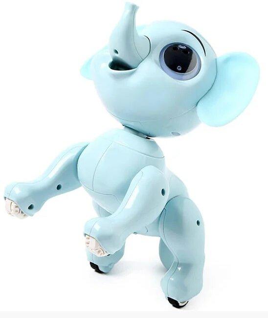 """Интерактивная игрушка """"Радиоуправляемый умный слоник"""" с пультом (голуб.)"""