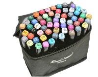 Скетч-маркеры 60 цветов Twin Art SketchMarker двухсторонние клиновидный и пулевидный наконечник