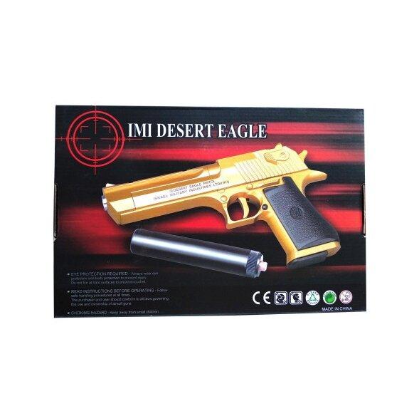 Страйкбольный пистолет с глушителем для AIR SOFT GUN C20+ Desert Eagle