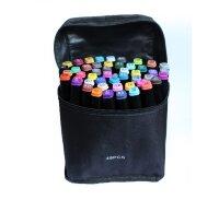 Скетч-маркеры 48 цветов Twin Art SketchMarker двухсторонние клиновидный и пулевидный наконечник