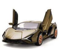 Ламборджини Lamborghini Sian FKP 37 машинка инерционная металлическая 21 см (1:24) Бронза