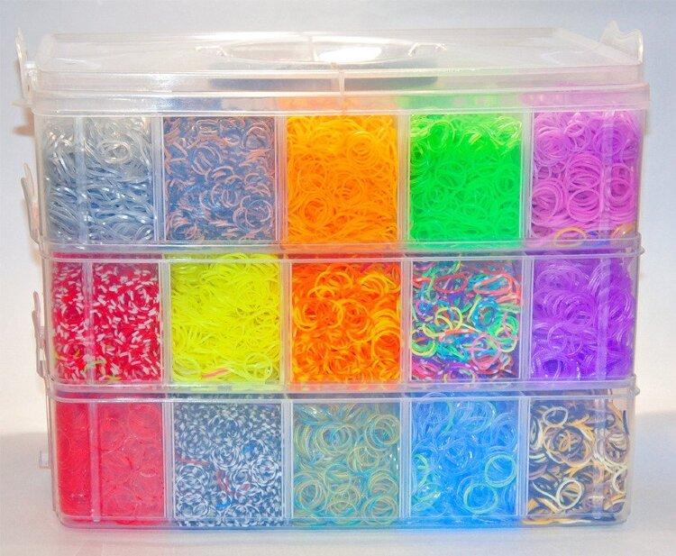 Гигантский набор резинок для плетения 40000 шт.