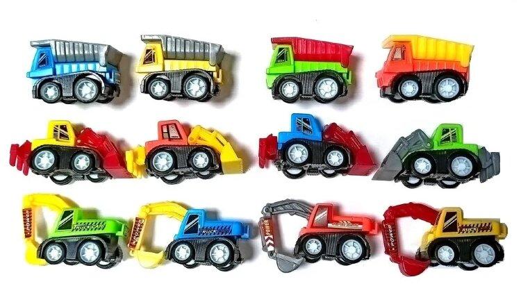 """Машинки игрушки / Набор машинок 12шт """"Строительная техника"""" 3988-12"""