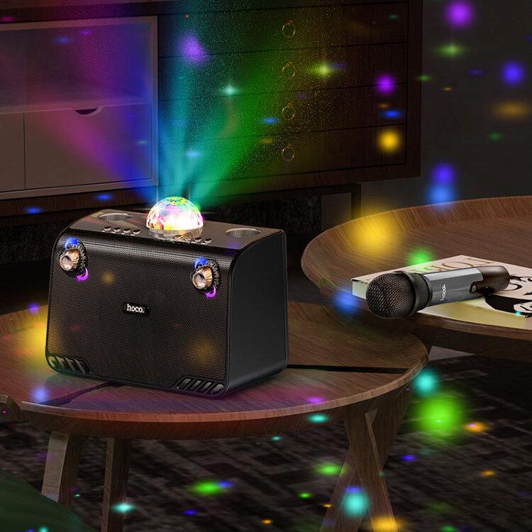 Беспроводная колонка с караоке и диско шаром Hoco BS41 Warm Sound