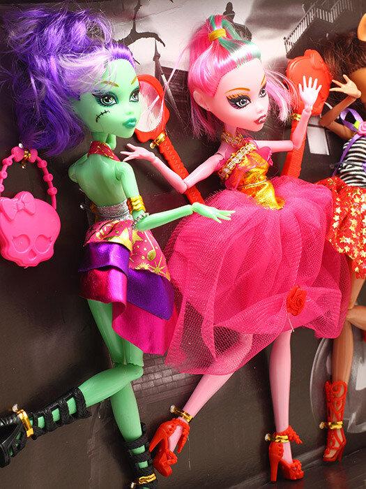 Набор из 3 кукол монстров Monster Elves 26 см для ООАК