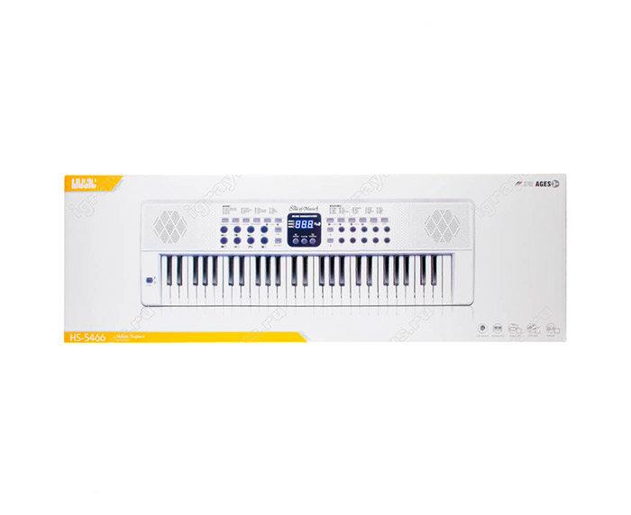 Деткий синтезатор с микрофоном 54 клавиши  (HS-5466B)