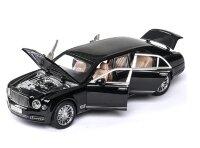 Машинка металлическая инерционная Бентли лимузин 1:24 (черный)