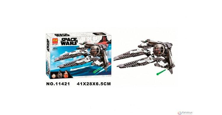 """Конструктор Звездные войны """"Перехватчик СИД Чёрного аса"""" 408 дет Space Wars 11421"""