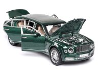 Машинка металлическая инерционная Бентли лимузин 1:24 (зеленый)