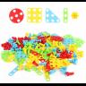 Конструктор мозаика с шуруповергтом MAGIC PLATE PUZZLE 144 детали