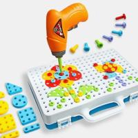 Конструктор мозаика с шуруповертом MAGIC PLATE PUZZLE 144 детали