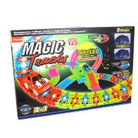 Чудо трасса с LED подсветкой Magic Tracks  Мертвая петля 366 деталей