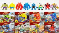 Набор 8 больших фигурок Супергерои Марвел  (PRCK) Heroes Gathering 34080