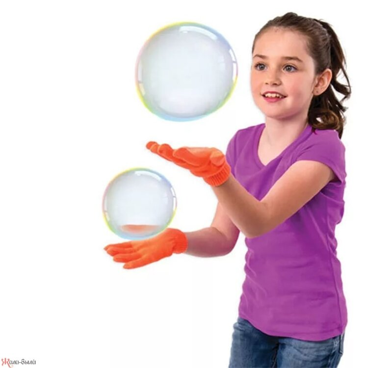 Набор для выдувания нелопающихся мыльных пузырей JUGGLE BUBBLES