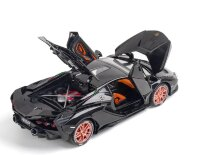 Ламборджини Lamborghini Sian FKP 37 машинка инерционная металлическая 21 см (1:24) чёрная