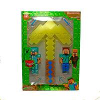 Кирка  Майнкрафт 33 см. + 2 фигурки