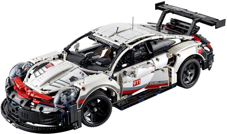 Конструктор Техник Порше 911 1620 дет.  Porsche 911 RSR Technology  38057