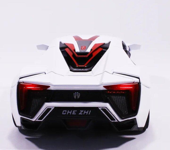 Машинка металлическая инерционная суперкар Lykan HyperSport 1:24  белый