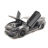 Машинка металлическая инерционная Шевроле Камаро  1:24 (черный)