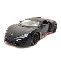 Машинка металлическая инерционная суперкар Lykan HyperSport 1:24  (черная)