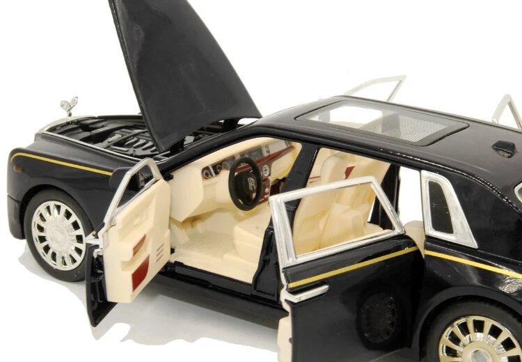 """Машинка металлическая инерционная """"Роллс Ройс Фантом"""" Rolls-Royce Ghost 1:24 Черный"""