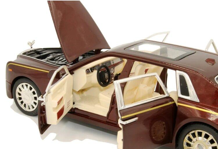 """Машинка металлическая инерционная """"Роллс Ройс Фантом"""" Rolls-Royce Ghost 1:24  (коричневый)"""