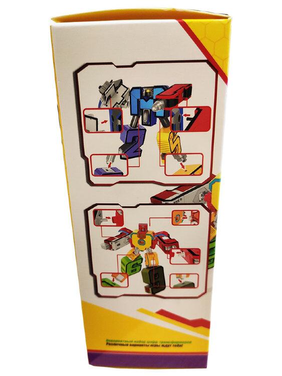 Большие «Цифры Трансформеры» Космос и Пожарный XL (Набор 10 в 1)