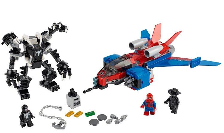 """Конструктор Super Heroes  389 дет.  """"Самолёт Человека-Паука против Робота Венома"""" Lari 11500"""