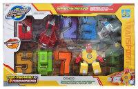 Большие Цифры Трансформеры  XL Сухопутный воин и Воздушный герой (Набор 10 в 1)