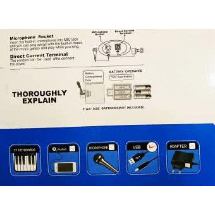Синтезатор с микрофоном HS-3702
