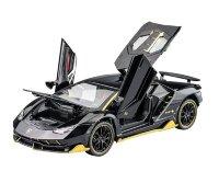 Машинка металлическая инерционная Ламборджини Lamborghini Aventador 20 см (1:24) (черная)