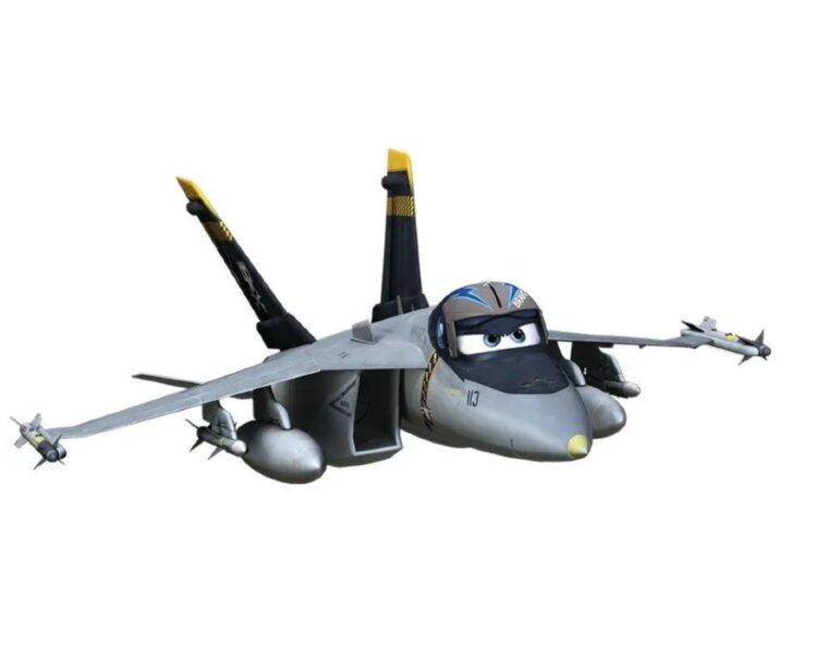 Модель самолета-истребителя Bravo металл, на блистере Disney Planes