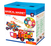 Магнитный конструктор ведро 168 деталей Magical Magnet Xinbida 7168